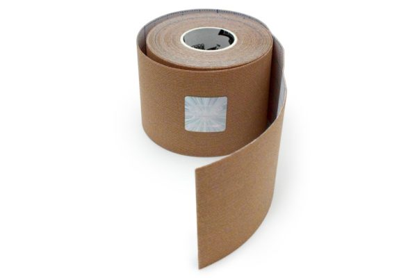 Kinesiology Tape - Synthetic Fibers special for SPORTS - Ultra Long Lasting Joint Support - Beige Color - 5cm x 5m by Rockford Kinesiology