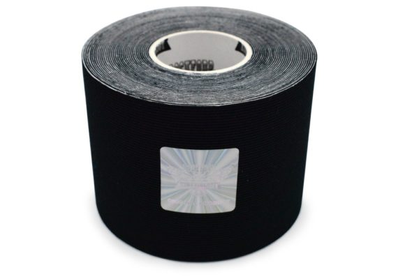 Kinesiology Tape - Synthetic Fibers special for SPORTS - Ultra Long Lasting Joint Support - Black Color - 5cm x 5m by Rockford Kinesiology