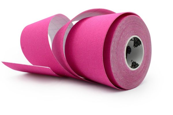 Kinesiology Tape - Synthetic Fibers special for SPORTS - Ultra Long Lasting Joint Support - Pink Color - 5cm x 5m by Rockford Kinesiology