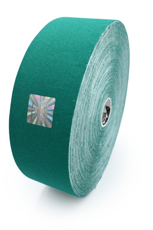 Cotton Therapeutic Tape - Green Color - Big Roll Kinesiology Tape 5cm x 32m by Rockford Kinesiology