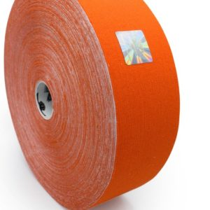 Cotton Therapeutic Tape - Orange Color - Big Roll Kinesiology Tape 5cm x 32m by Rockford Kinesiology