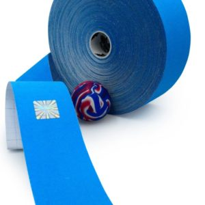 Gold Edition Kinesiology Tape for SPORTS - Synthetic Fibers by Rockford Kinesiology - Blue Color - 5cm x 32m