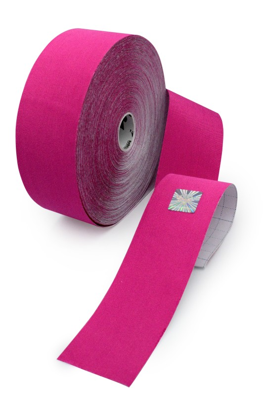 Gold Edition Kinesiology Tape for SPORTS - Synthetic Fibers by Rockford Kinesiology - Pink Color - 5cm x 32m