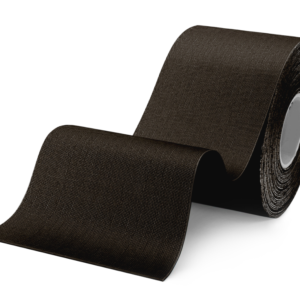 Kinesiology Tape – Synthetic Fibers special for SPORTS – Ultra Long Lasting Joint Support – Black Color – 5cm x 5m by Rockford Kinesiology