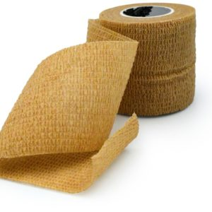 Wrap Sports Tape Athletic Taping Special For Sports Self Adhesive Elastic Cohesive Bandage Grip Brown Color