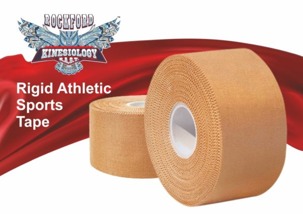 Rigid Athletic SPORTS Tape by Rockford Kinesiology - Ultra Resistant Strapping Tape