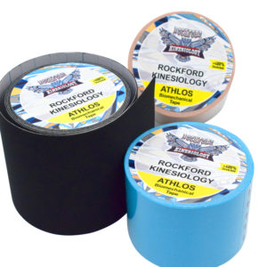 Biomechanical Tape - Athlos 7.5 cm x 5 m - Special Edition for SPORTS & Performance by Rockford Kinesiology - Black Color